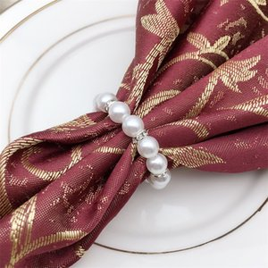 Perles manuelles Anneau de serviettes de serviettes de serviette de la force élastique Perle Serviettes réutilisables Boucle Fashion Vente chaude avec qualité supérieure 1 8HW J1