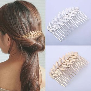 1Pcs Tree leaf Hair Clip Comb Hair Accessories Wedding Metal Women Hairpin Hair Combs Accessories Styling Tools