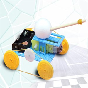 Free shipping technology power tank science experiment children's educational battery toy model DIY plastic material