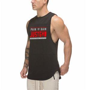 Hombres Bodybuilding Tank Tops Malla Sin mangas Camisa Gimnasio Fitness Entrenamiento de entrenamiento Impreso Impresionado Moda transpirable Singlets