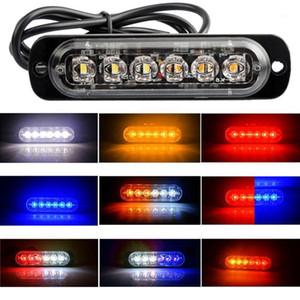 6Led carro caminhão strobe luz retangular 18w 1000lm impermeável ip67 banim de emergência aviso de aviso de aviso de sinal de luz flash lâmpada1