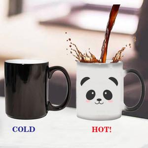 Panda Mark Cup Ceramic Thermochromic Coffee Mug Color Change Mug Water Mug Cups and Mugs Coffee Cup