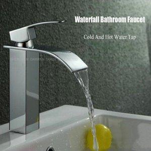 1 pc deck de alta qualidade montagem cachoeira banheiro torneira vaidade embarcação afunde mixer tap frio e quente água torneira