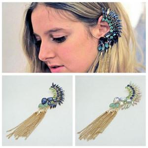 Designer Women Ear Armor Tassels Gemstone Luxury Earrings Jewelry For Women Birthday New Year Christmas Gift
