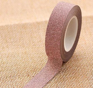 New Arrival Adhesive Silver Golden Glitter Washi Tape Scrapbooking Christmas Party Kawaii Cute Decorative Paper Cra bbyJKI ladyshome
