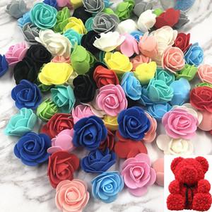 100pcs! 3.5cm PE foam artificial flower heads simulation Fake Rose Flower for wedding car Party Marriage Shoes Hats decoration