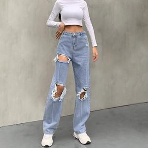 Baggy Yırtık Yüksek Bel Erkek Arkadaşı Anne Kot Kadınlar için Sevimli Bayanlar Vintage 2000s Estetik Sıkıntılı Y2K Pantolon Dipleri