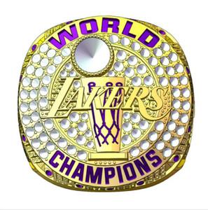 레이커스 2020 챔피언스 로커 룸 농구 스냅 백 모자 캡 팀 우승 반지를 선물 팬 남성 선물 상자 크기 (11)