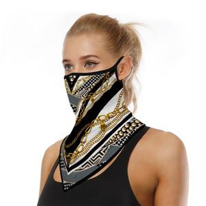 NEW Triangle Half Face Shield Men Women Breathable Sunscreen Balaclava Bandanas Scarf Sports Hanging Ear Face Mask Reusable