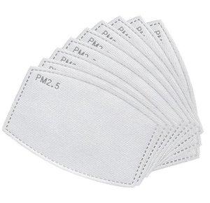 Анти пыли Сменная Mask Filter Mask Paper Haze Mouth РМ2,5 Фильтры маска бытовые Пять слоев Filte Мода Защитные продукты LSK1682