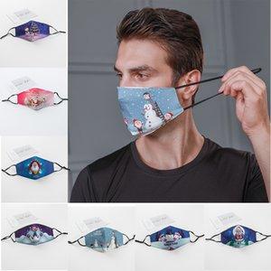 Weihnachten Neujahr Gesichtsmasken atmungsaktiv waschbar resuable verstellbare Baumwolle Masken staubdicht Parteischablone heißen Verkaufs