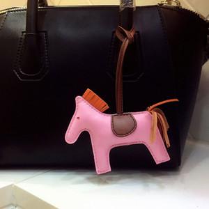 Piel de cordero caballo llave clave de la cadena Animal Bolsa de Mujeres del encanto de lujo bolso Accesorios Llaveros Para Muj regalo de cumpleaños T200804