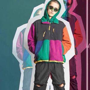 2020 neue Designer Winter Polar Fleece Panel Jacken Stickerei Mens Streetwear Unisex Womens Winter Pufferjacke