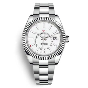 Homens relógio mecânico automático multi-função 24h relógio automático de calendário de aço inoxidável luminoso impermeável mergulho multi-função relógio