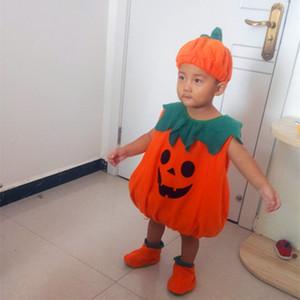 Costumi di Halloween del bambino del bambino zucca costume Cosplay Childern sveglio per la neonata Boy Fancy Dress Capodanno Carnival Party 201021