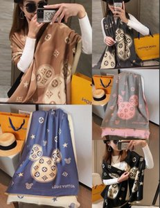 2021 Luxury Winter Cashmere Scarf Pashmina For Women Brand Designer warm Scarf Fashion Women imitate Cashmere Wool Long Shawl Wrap A01
