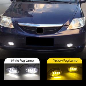2PCS Car LED Fog Light For Honda JAZZ FIT 2012-2014 For CIVIC 2009-2015 For ACCORD 2008-2013 Fog lamp DRL Daytime Running Light