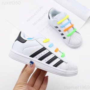 Hot Sale NEW STAN SMITH SNEAKERS CASUAL LEATHER Children shoes SPORTS JOGGING SHOES kid's CLASSIC FLATS SHOES SUPERSTAR for kids JUU5G