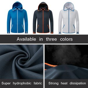 Refire Gear Summer Waterproof Hoodie Jacket Men Quick Dry Lightweight Skin Coat Casual Thin Breathable Ice Silk Outwear Clothes 201014