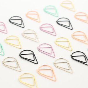 6pcs set Water droplets modeling Clips Cute Kawaii Bookmark Memo Clip For Office School Supplies Stationery SQ08