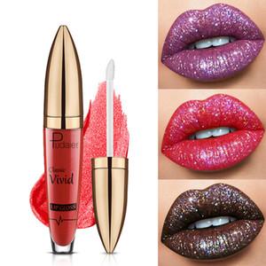 Pudaier Glitter Lip Gloss Velvet Matte Pigment 18 colors Waterproof Long Lasting Red Blue Black Liquid lipstick