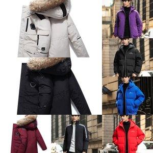 PMRD Chapeau-vêtement de mode Manteau col fourrure Zipper Big Men Outdoor capuche Down Jacket Homme Designer avec Lapel Neck Thicken Manteaux Removab