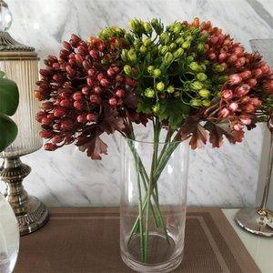 """Fake Single Stem Acacia 13.78"""" Length Simulation Plastic Fruit for Wedding Home Decorative Artificial Plants"""
