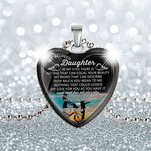 To my family peach heart Glass Cabochon Pendant necklace pendant to my danghter.. love mom heart love glass necklace