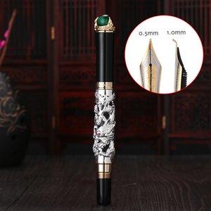 Jinhao lusso Penna Drago stilografiche di alta qualità Pluma Stylo Plume Caneta Tinteiro Pluma FuenteTitanium Dolma Kalem Tips
