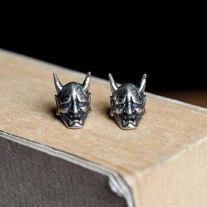 Vintage Ghost Skull Stud Orecchini Moto Party Punk Earrings Biker Uomo Gioielli Bue Corno Maschera Gioielli Accessori