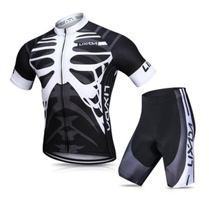 Lixada Men's Cycling Jersey Set Biking Shirt with Gel Padded Shorts MTB Bike Cycling Clothing Breathable Quick-Dry Short Sleeve