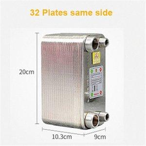 32 Placas soldadas trocador de calor Beer Wort Chiller Refrigerador Início Brewing Beer soldadas placa de tipo aquecedor de água SUS304 8OFr #