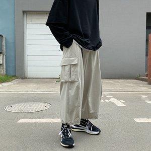 Autumn Straight Leg Men's Fashion Casual Multi-pocket Cargo Pants Men Streetwear Hip-hop Loose Belt Overalls Mens S-2xl