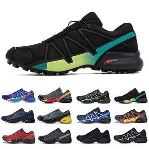 Ucuz Moda Hız Çapraz 4 CS Açık Erkek Koşu Ayakkabıları Speedcross 4 Jogging Runner IV Eğitmenler Erkekler Spor Sneakers Scarpe Zapatos 40-46
