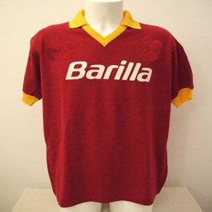 1990 1991 1992 1994 1995 1996 Retro roma TOTTI maillot de football GIANNINI 92 94 95 96 AS Rome commémorent classique Collection Maglia da calcio