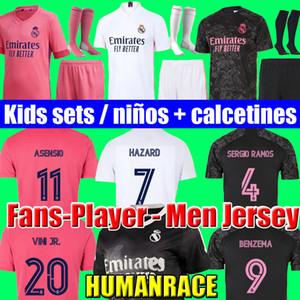 축구 유니폼 레알 마드리드 20 21 위험 JOVIC 벤제마 camiseta 드 푸 웃 2020 2021 비니 RODRYGO 모드리치 축구 셔츠