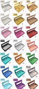 Wrap 21 Colors Quality Wholesale Square False Eyelash Packaging Box Fake 3D Mink Eyelashes Boxes Faux Cils Magnetic Case Lashes Empty Yq2Ai