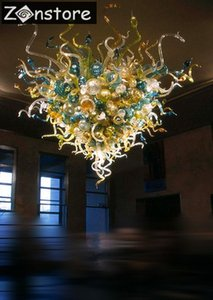 Big 48inches bolle di vetro alto soffitto Decor Lampadari Led mano soffiati incasso luci di soffitto di vetro