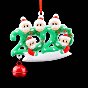 Christmas PVC face Mask Gift Pendant family reunion Santa Claus Christmas Wall Hanging Bell Decoration Wall Sticker wholesale