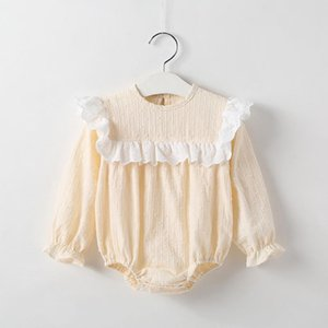 Childrens Clothing Baby Cotton Clothes Baby Girl Summer Hot Yellow Jacquard Short-Sleeved Jumpsuit Korean-Style Triangle Romper