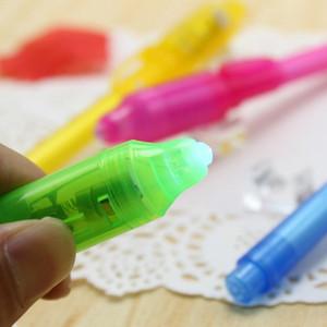 Çocuklar Hediyeler Çizim KKF2148 için Kırtasiye Yaratıcı Sihirli UV Işık Pen Görünmez Mürekkep Kalem Komik Marker Kalem Okul Malzemeleri