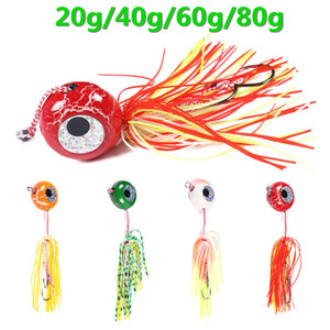4pcs lot DEEP CONTROL UP Tenya Madai Jig Kabura Saltwater Fishing Lure Jighead Lead Sea Boating Bait Shrimp Rubber Skirt Fishing bait