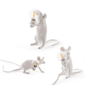 Decoração 3 estilos Resina mouse Lamp American Country indivíduo criativo Quarto Estudo de cabeceira quarto Escrivaninha Rato pequeno abajur 1020