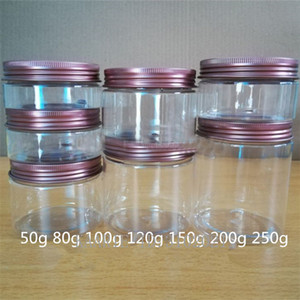10/30 / 50pcs 50g-250G Esvaziar Alumínio Cap Cosmetic Tin Pot Lip Balm Jar Containers Oil Wax Face Cream Container Box