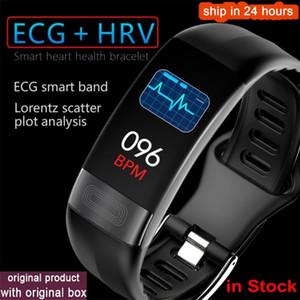Новейший SmartBand P11 ECG Smart Band Watch Watch Monitor Monitor PPG Умный браслет Артериальный давление Водонепроницаемый браслет LJ201211