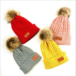 2020 Autumn Winter Children Knitted Hat Beanie Newborn Warm Crochet Hats Trendy Kids Boys and Gilrs Casual Outdoor Travel Skull Cap E101002