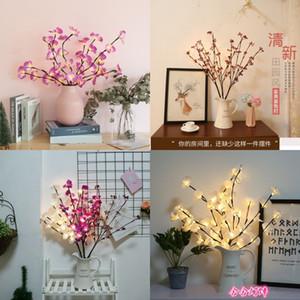 나비 난초 체리 컬러 조명 가족 침실 실용 장식 램프 기숙사 LED 트리 램프 고품질 11 58HH J2