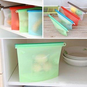 Alimentos de calidad de bolsas de almacenamiento de vacío de silicona bolsa sellada sopa congelado espesó calentar bolsa comida Frigorífico reutilizable Food Organizador