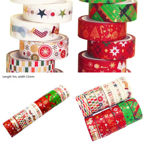Christmas 12roll set Washi Tape Paper Festival Diy Scrapbooking Adhesive Sticker 91ad Q1mk