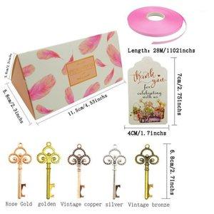 50 stücke Bonbonpapier Geschenkboxen Taschen mit Schlüsselflascheöffner Verpackung Box für Hochzeit Geburtstag Party Favors Weihnachtsdekoration1